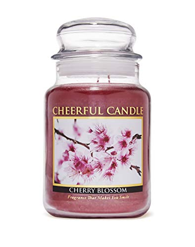 A Cheerful Giver Cherry Blossom 24 oz Jar Candle, Red
