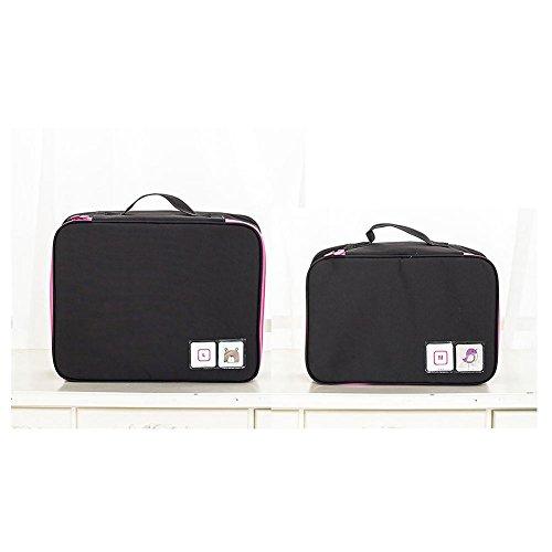 Nylon Sac de lavage portable Make Up Cosmetics Bag Case Organiseur de toilette Stockage pour femmes et hommes , Black