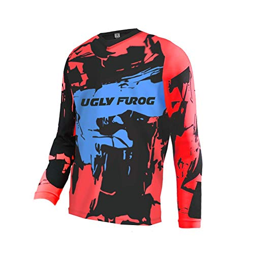 Uglyfrog Element/Youth Kinder Winter Shirt Thermisches Fleece Downhill Jersey Trikot MX Jersey RACEWEAR Trikot Kurz/Langarm Top 27-DEHerDownMKZR01