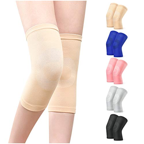 A Pair of Knee Braces Compression Knee Sleeves for Knee Pain, Runners...
