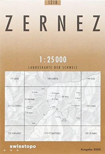 1218 Zernez: Piz Sarsura - Susch - Val dal Spöl (Landeskarte 1:25 000)