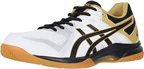ASICS Men's Gel-Rocket 9 Volleyball Shoes, 11M, White/Black