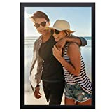 OhGeni 12 x 18 Picture Frame for Home Decor, Sturdy Poster Frame Made of Solid Wood, Black Frame with Clear Plexiglass