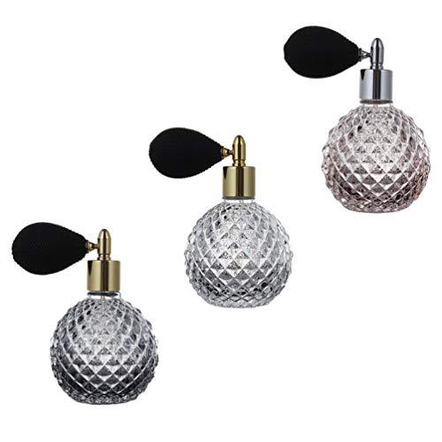 Minkissy 3 Unidades de Frasco de Perfume Vacío de 100Ml Frasco de Perfume de Vidrio con Bolsa de Aire Recipiente de Aerosol de Niebla Fina Dispensador de Loción Líquida para Mujeres