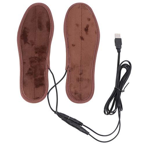 OUNONA Paar Beheizbare Einlegesohlen USB Winter Warm Schuheinlage - Gr??e 43-44