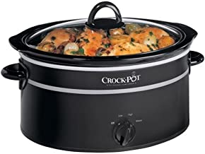 Crock-Pot - Olla de cocción lenta (6,5 L), color negro