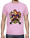 tostadora - T-Shirt Leo Comanche Scudo - Uomo Rosa XL