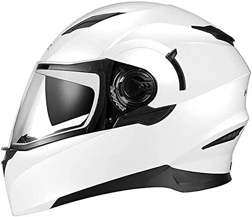 GPFFACAI Casco Integral Moto mujerCascos de Moto, Cascos de Moto con Gafas antivaho, Cascos de Scooter, Cascos de Scooter, Cascos de ciclomotor(Size:Medium)