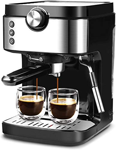 Espresso Machine 20 Bar Coffee Machine With Foaming Milk Frother Wand, 1300W High Performance No-Leaking 900ml Removable Water Tank Coffee Maker For Espresso, Cappuccino, Latte, Machiato, For Home Barista