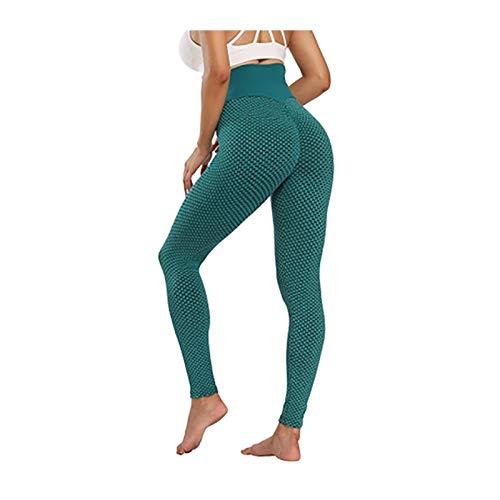 N\C Pantalones De Yoga De Cintura Alta para Mujer Leggings para Adelgazar Leggins De Cintura Alta Pantalones De Chándal Push-up Elásticos (Color : Green, Size : X-Large)