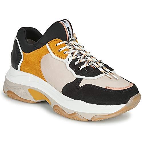 BRONX BAISLEY Sneakers dames Beige/Zwart/Geel Lage sneakers