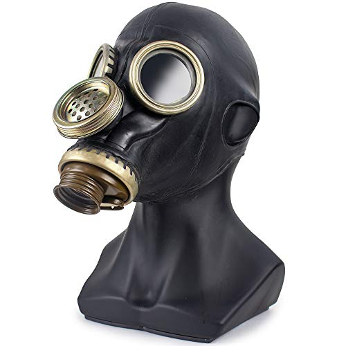 Russian Gas Mask, Gp5 Gas Mask Soviet, Old Ussr Military Gas Mask, Soviet Surplus Russian Gasmask, Black Gp 5 Gas Mask For Cosplay Or Military Gas Mask Collection