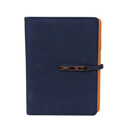 Notizbuch DIN A5 Tagebuch PU Leder Nachfüllbare Ringblöcke mit Stifthalter Hardcover Journal Reisetagenuch Notizblock für Büro und Schule
