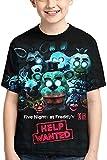 AMCYT Five Nights at Freddy's - Camiseta de manga corta, diseño con impresión 3D para niños y niñas, 03, small