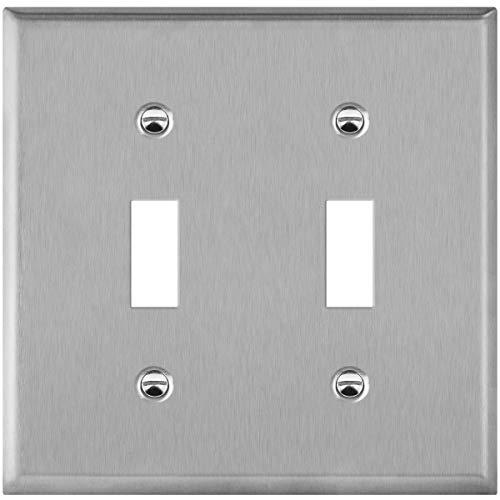 Enerlites - Placa de pared de acero inoxidable para interruptor, tamaño estándar