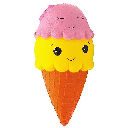 MMTX Lento Levantamiento Squishies Toys, Super Soft Cut Squeeze Toys Kawaii Cake Helado perfumado Squishy Jumbo Stress Relief Descompresión de Regalo para niñas Niños (Helado)