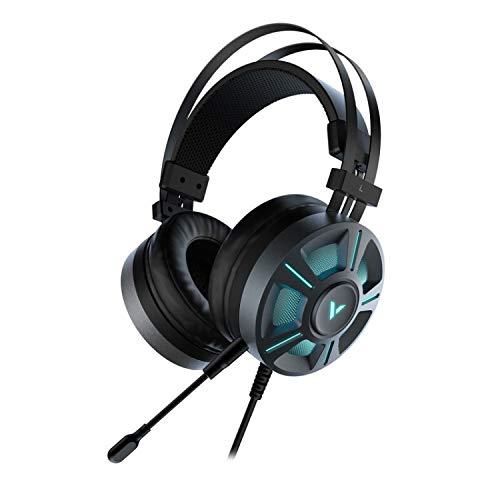 Rapoo VH510 USB-Gaming Headset für PC PS4 Xbox One, Rauschunterdrückung Mikrofon RGB Gaming Kopfhörer mit 7.1 Surround Sound LED Licht