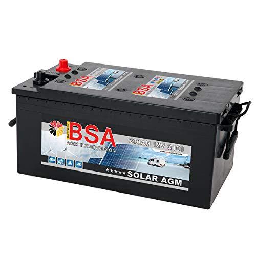 BSA Solarbatterie 12V 230Ah Solar Akku Wohnmobil Boot Schiff Versorgung AGM Gel Batterie