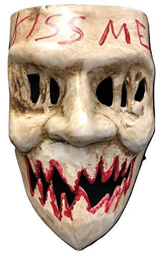 UK The Purge Original Kiss Me Luxus Halloween Hartplastik Maske mit Elastischer Gurt von Wahl Jahr Film