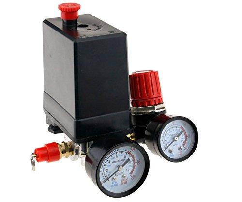 Compresor de aire Presostato trifásico, Válvula de control con regulador de aire, soldadura y calibre