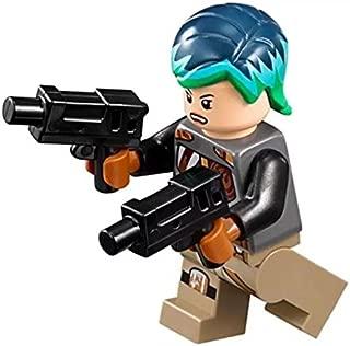 MINI LEGO Star Wars Rebels Minifigure - Sabine Wren with Bright Hair Dual Blasters (75150)