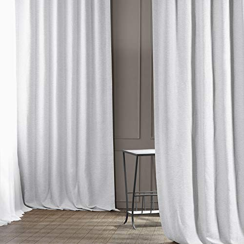 HPD Half Price Drapes BOCH-PL1611-84 Bellino Blackout Room Darkening Curtain (1 Panel), 50 X 84, Chalk Off White