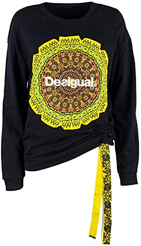 Desigual 19SWSK09 - Sudadera Mandala Ajustable, Color Negro, Negro, L