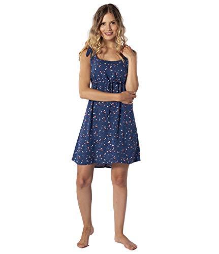 Rip Curl Beach Nomadic Sun Dress Damen,Kleid,Beach-wear,Sommerkleid,kurz,ärmellos,Rundausschnitt,Taillenzug,Pacific Blue,S