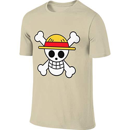 Camiseta para Hombre One Piece Logo Manga Corta Casual Tallas Grandes Fitness Sport Ropa Poloshirts Tops 3XL