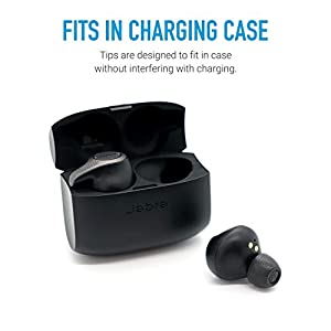 Comply TrueGrip Pro Memory Foam Tips for All Jabra True Wireless Earbuds [Elite 75t, Elite 65t and Other Models] Made from Comfortable Memory Foam for a Secure Fit (Small, 3 Pairs)