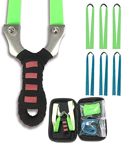 Professional Stainless Steel Flat Bands Slingshot Set with Spring Clip Wrist Rocket High Velocity product image