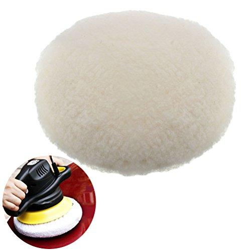UEETEK 180 mm gancho lazo Bonete lana cordero pulidor