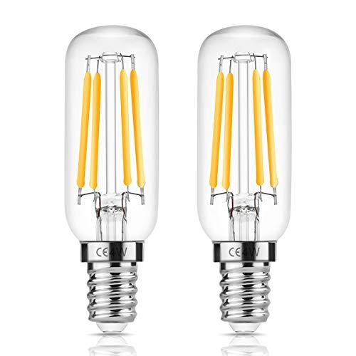 Fulighture Glühbirne E14,Filament Lampe,4 Watt Ersetzt 40 Watt,2700 Kelvin Warmweiß,400 Lumen,Edison Vintage Glühbirne Ideal für Kabinett,Kühlschrank,Kronleuchte und Wandlampe,Nicht Dimmbar,2er Pack