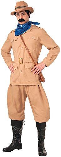 Forum Novelties Men's Theodore Roosevelt Deluxe Costume, Brown, Standard