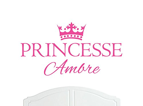 Princesse Ambre Grande Sticker mural avec décoration murale de la Couronne, Stickers Muraux, Papier Peint, Choix de Stickers en Vinyle
