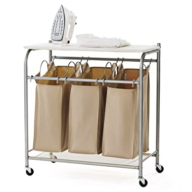 neatfreak U5479-EFST Triple Sorter with Ironing Board and Everfresh