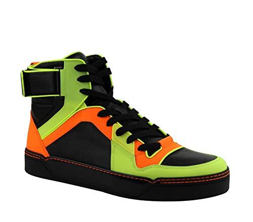 Gucci Zapatillas de baloncesto para hombre con logo de piel de neón