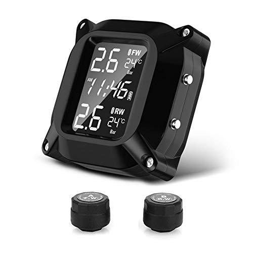 WHEEJE Monitoreo de presión de neumáticos Interfaz USB 2PCS Sensor Neumático Monitoreo del Sistema Motorbike Impermeable (Color : 4 sensors)