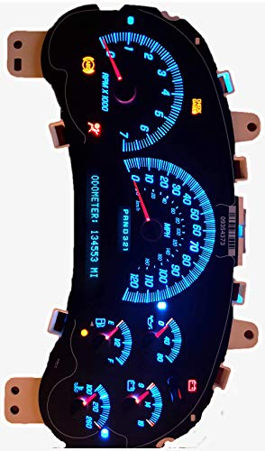 Speedometer Instrument Cluster Envoy Trailblazer All Years Rebuilt Ice Blue LEDs Pick your Mileage