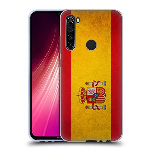 Head Case Designs Español De España Banderas Vintage Carcasa de Gel de Silicona Compatible con Xiaomi Redmi Note 8T