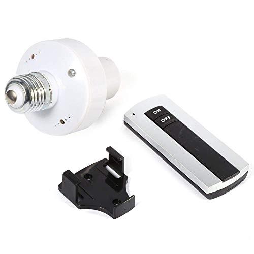 Iluminación inalámbrica, enchufe de lámpara de luz de control remoto - Kit de interruptor de luz inalámbrico E27 Tornillo Base de lámpara Soporte de enchufe Interruptor de tapa 220V