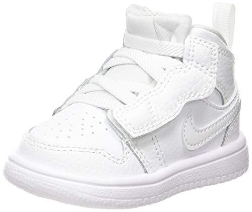 Nike Jordan 1 Mid Alt TD, Basket Mixte Enfant, Bianco, 34 EU