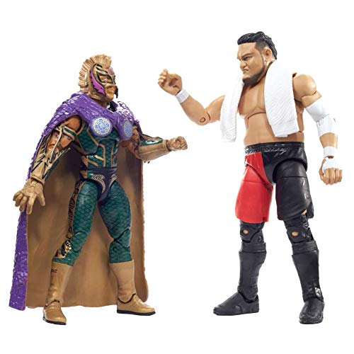 WWE Rey Mysterio vs Samoa Joe Elite Collection 2-PackAction Figures Each with 2 Extra Sets of Swappable Hands and Superstar-Specific Accessories