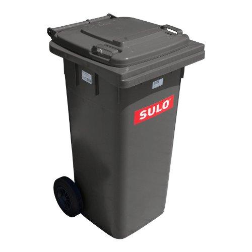 Cubo de basura 2 ruedas, contenedor a basura SULO 120 L, gris (22068)