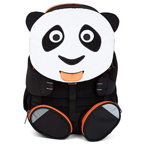 Affenzahn Großer Freund - Kindergartenrucksack für 3-5 Jährige Kinder im Kindergarten und Kinderrucksack für die Kita - Panda - Weiß