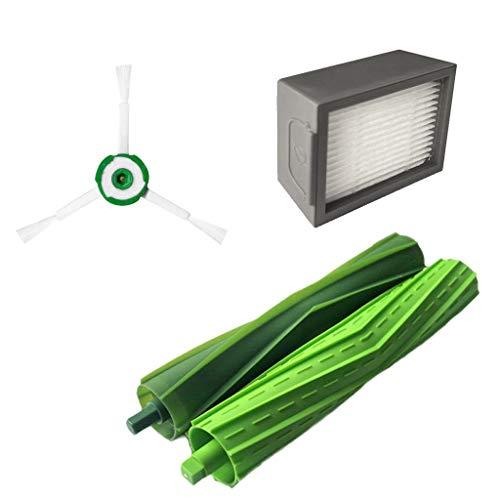 CAOQAO IRobot Roomba I7 I7+/I7 Plus E5 E6 E7 Aspirateur Brosse LatéRale 1Pcs+ Filtre 1 Pcs +Brosse Rolling 2 Pcs Nouveau Kit D'Accessoires De Remplacement pour IRobot Roomba I7 I7+/I7 Plus E5 E6 E7