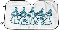 ムーミン リトルミィ サンシェード 車 フロントサンシェード 日除け 軽自動車 吸盤 Uvカットキャラクター アニメ グッズ 雑貨 かわいい おしゃれ 車用品 70x130cm