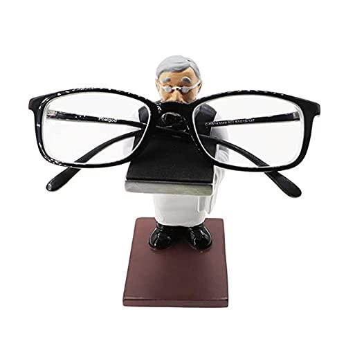Hong Yi Fei-Shop Soporte para Gafas Old Butler Hombre Reloj Soporte Soporte Pulsera de Pulsera Soporte Soporte Creativo Gafas Titular Mesa Mesa de Almacenamiento Joyería Soporte Gafas (Size : L)