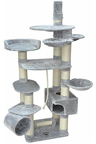 nanook Taurus Stabiler Katzen-Kratzbaum XXL für große und schwere Katzen, standfester Katzenbaum mit Deckenbefestigung, Kletterlandschaft 245x75x65 cm