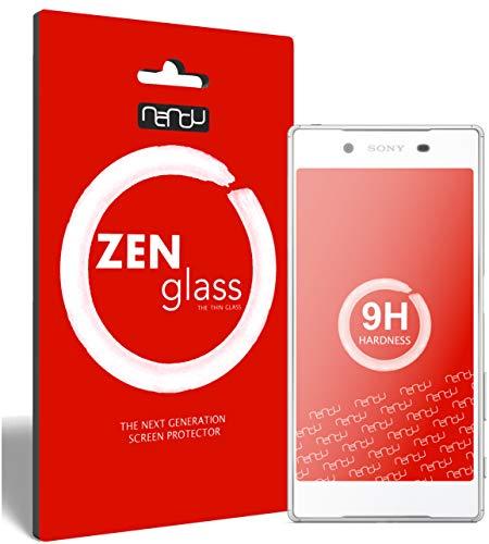 ZenGlass (2 Stück Flexible Glas-Folie kompatibel mit Sony Xperia Z5 Panzerfolie I Display-Schutzfolie 9H
